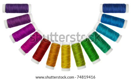 Tit-colored in a semicircle - stock photo
