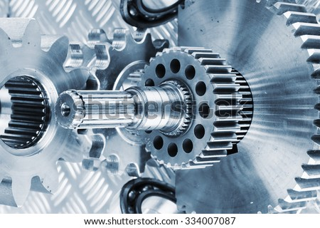 titanium cogwheels and gears used in aerospace and rocket industry