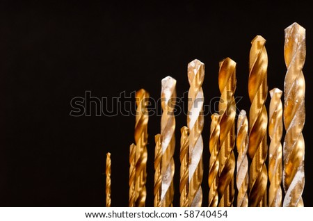 Titanium Forged Drill Bit Background