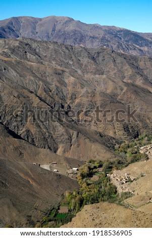 Tizi-n-Tichka Pass, High Atlas, Guelmim-Es Semara, Morocco Foto stock ©