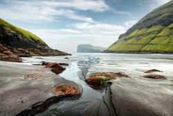 Tjornuvik beach on Streymoy island, Faroe Islands, Denmark. Landscape photography