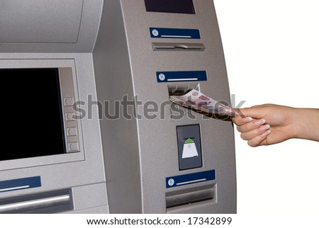 TM Access - woman withdraw money at cashpoints