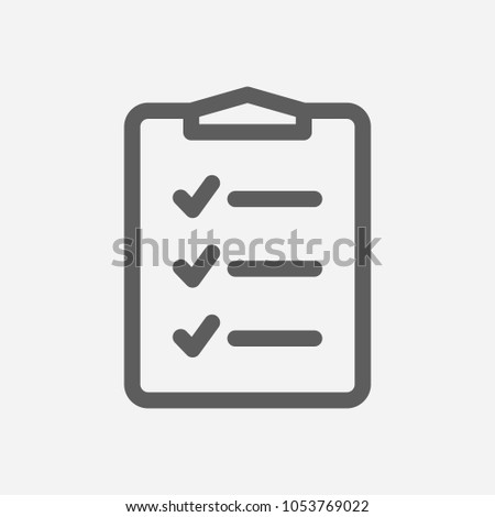 To-do list icon line symbol. Isolated  illustration of  icon sign concept for your web site mobile app logo UI design.