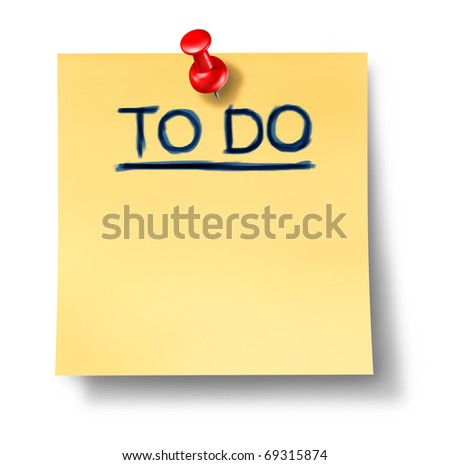 to do list office note reminder attention paper goals planning strategy