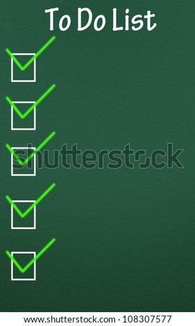to do list symbol