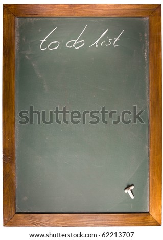 To Do List write on blackboard with copy space