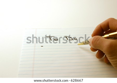 To Do - Notepad & Pen Isolated