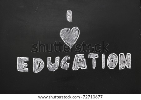 To express their love of education on the blackboard.