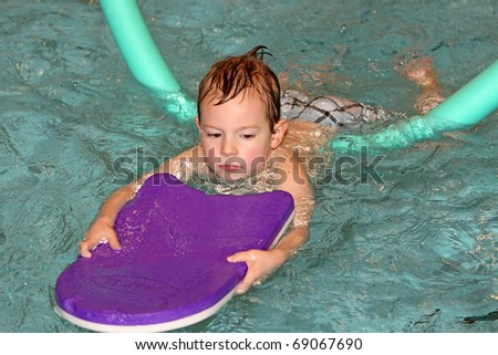 to learn swimming - stock photo