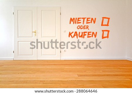 To rent an apartment or buy - Living room with parquet, wooden floors after renovation