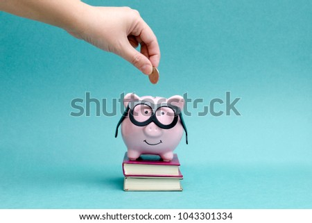 to save money for education and study #1043301334