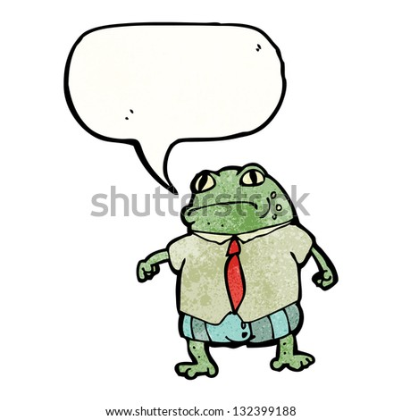 toad with speech bubble cartoon