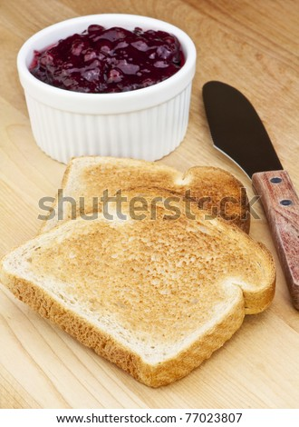 toast and and sweet fruit jam for a light breakfast Jam