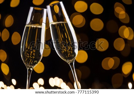 Toast by champagne glasses #777115390