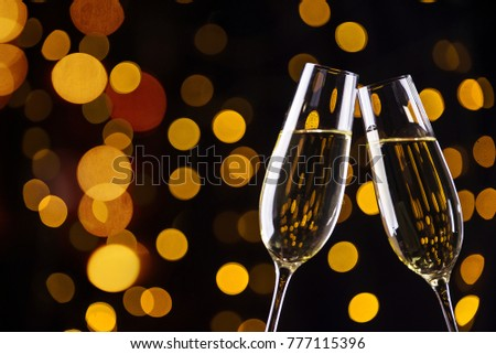 Toast by champagne glasses #777115396