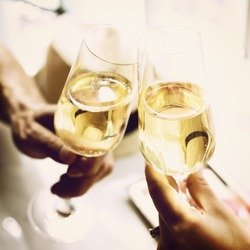 Toast Cheers Alcohol Beverage Celebration Party Concept