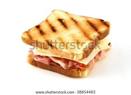 Toast, isolated background - stock photo