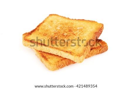 Toast isolated on white background Stockfoto ©