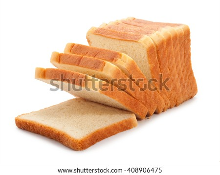 toast wheat bread sliced isolated on white background. #408906475