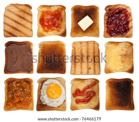 Toasts collection - stock photo