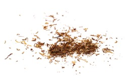 Tobacco pile isolated on white background