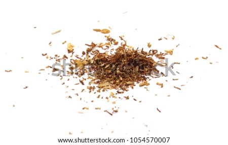 Tobacco pile isolated on white background #1054570007
