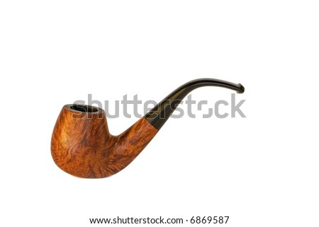 Tobacco pipe against white background