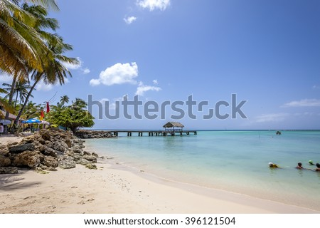 Tobago Beach: Best of Tobago island in Caribbean Stock photo ©