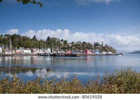 Tobermory harbour Isle of Mull Scotland