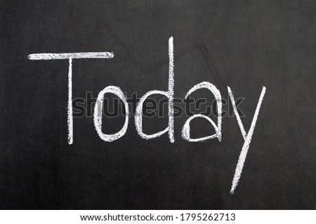 Today white text concept on black background. Success message sign motivation word planning Stock photo ©