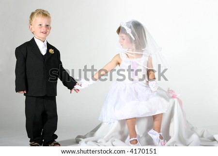 Girl Dressed up as a Boy Toddler Boy And Girl Dressed