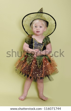 Toddler Halloween witch