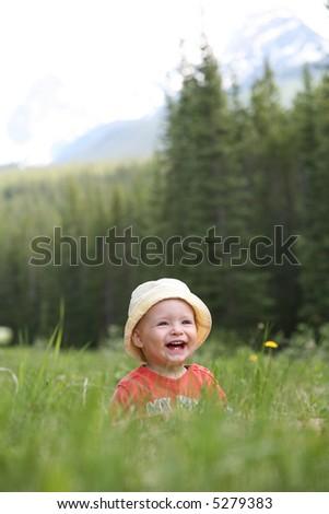 Toddler Having Fun