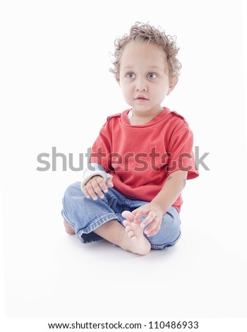 Toddler in the studio