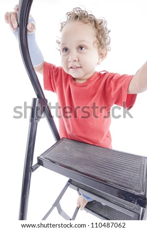 Toddler on the ladder
