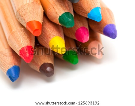 toddler pencils over white