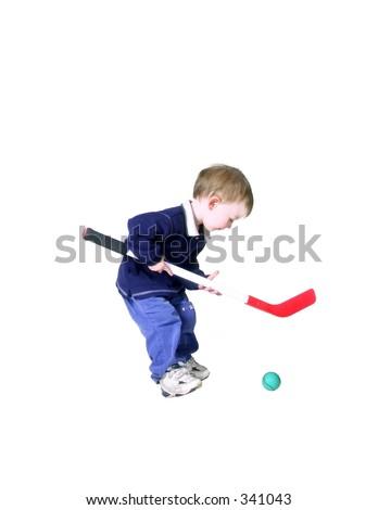 el pequeñín que juega el hockey