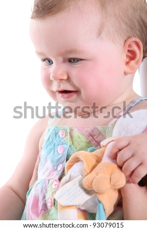 Toddler with toy - stock photo
