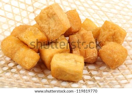 Tofu bubble on the white background