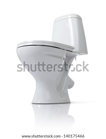 Toilet bowl isolated on white background. File contains a path to isolation.