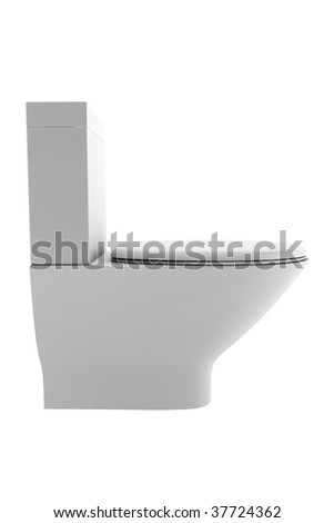 toilet bowl isolated on white background with clipping path