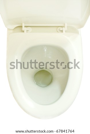 Toilet Bowl Seat. The Top View. On A White Background ...