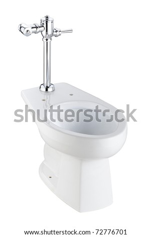 Toilet bowl should be easy to use and cleaning, image isolated on white