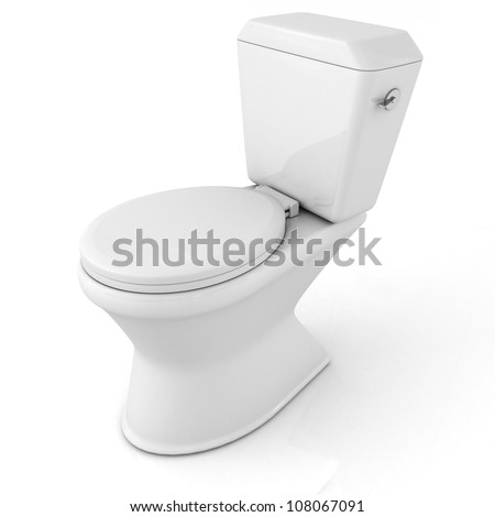 Toilet 3D wc on white background