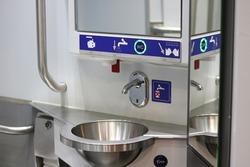 Toilet facilities on Swiss Train