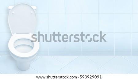 Toilet in the bathroom. #593929091