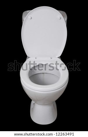 Toilet isolated on black background
