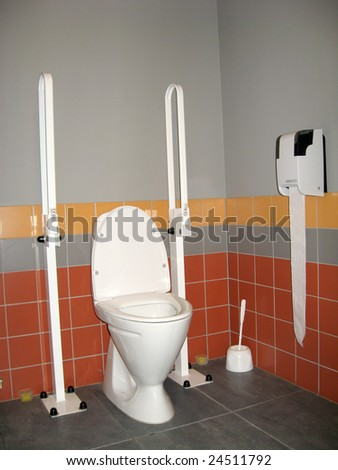Toilet made specially for disabled person use stock photo - Toilet for handicapped person ...