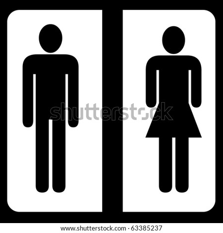 Toilet male and female sign