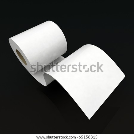 toilet paper 3d illustration
